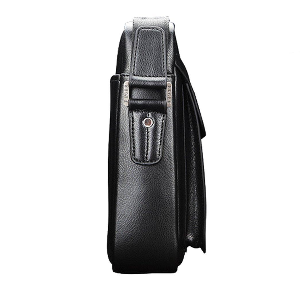 Zicac Mens Leather Shoulder Bag Handbags Briefcase For The Office Messenger Bag 55