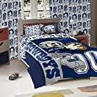 Licensed Disney Mickey Mouse NFL Dallas Cowboys Character Comforter and Sham Twin Set