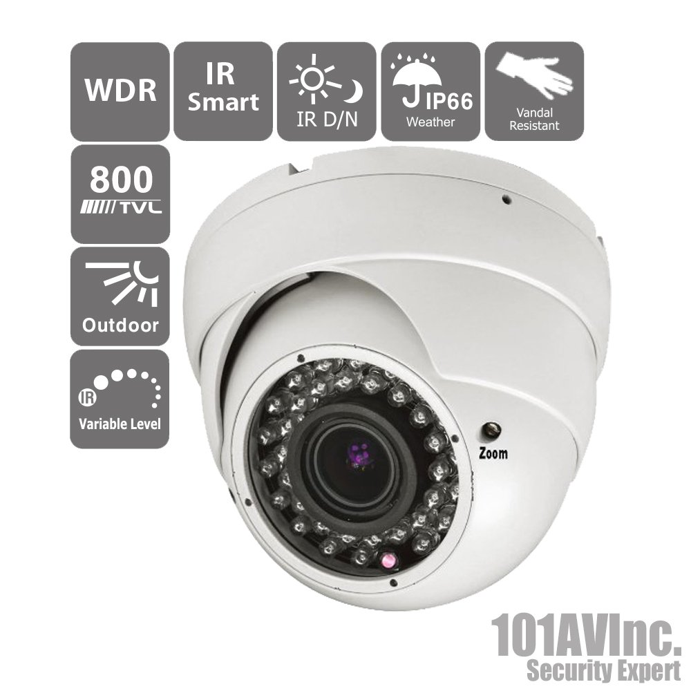 101AV 800TVL Dome Camera 1/3'' SONY Effio-E DSP 960H CCD 2.8 ..