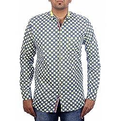Aaduki Men's Casual Yellow Shirt-L