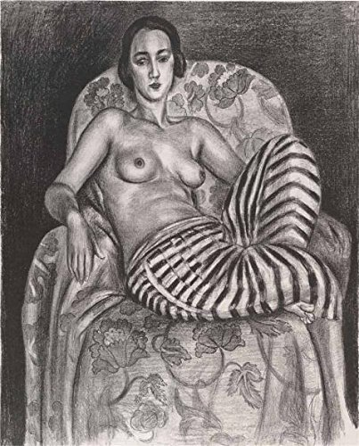 Oil Painting 'Odalisque In Striped Pantaloons, 1925 By Henri Matisse', 24 x 30 inch / 61 x 76 cm , on High Definition HD canvas prints, gifts for Bath Room, Home Theater And Living Room Decoration (Expresso Hd Bike compare prices)