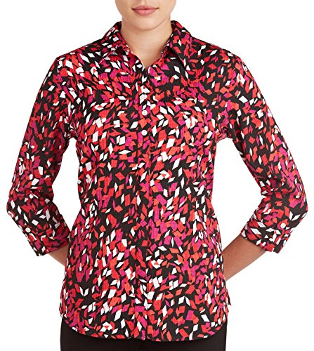 Alia Womens Geometric Printed Woven Top 18 Red multi (Alia Clothing compare prices)