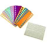 Hyamass 10pcs Embroidery Floss Organizer Cross Stitch Thread Holder Storage Tool Needlework Project Card with 1-102 Number Label Tags