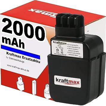 Akku für Metabo 12V 2000mAh NiMh 6.31179 Ersatzakku Flachkontakt