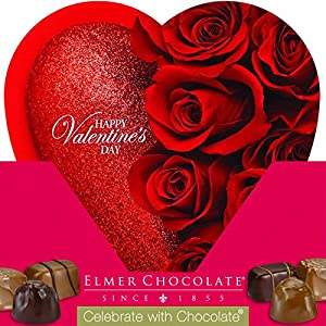 Elmer Celebrate with Chocolate Assorted Chocolates, 6.8 Oz Valentine Heart Box