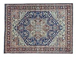 8\'x11\' Vegetable Dyes Dense Weave Serapi Heriz Hand Knotted Oriental Rug G24228