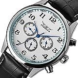 Cucol(クコル)メンズ自動巻き 腕時計 自動機械式 日付 曜日 表示(ホワイト色)