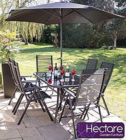 Kennet Reclining 6 Seater Polytex Garden & Patio Furniture Set by Hectare