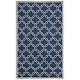 Safavieh Amherst Collection AMT412P Navy and Ivory Indoor/Outdoor Area Rug, 8-Feet by 10-Feet