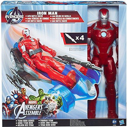Hasbro - Avengers Iron Man 30 cm più veicolo