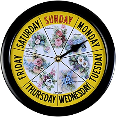 Day Clock Floral Maine