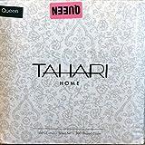 Tahari Bedding 4pc QUEEN Sheet Set Floral Paisley Tan / Gray on White