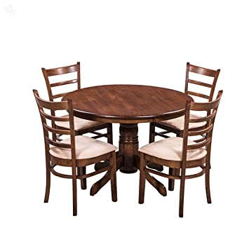 Royal Oak Coco Dining Table Set with 4 Chairs (Walnut): Amazon.in ...