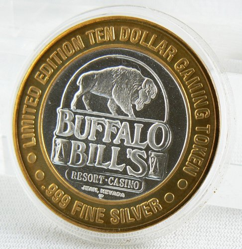 $10 GAMING TOKEN .999 FINE SILVER in CAPSULE