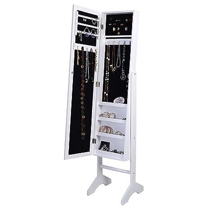 Generic YanHongUk150730-1148 1yh2994yh oire W/Mirror Cabinet Storage Box Organis Floor Standing Floor Sta Box Organiser ellry Cab Jewelry Jewellry ng Jewelr Armoire W/Mirror