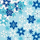 Snowflake Felt Stickers for Children to Decorate Winter Crafts Cards and Collage Pack of 78