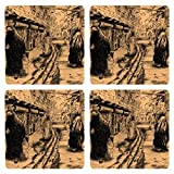 Posterboy The Baghdad Street MDF Coaster Set, Set Of 4, 101mm, Multicolor