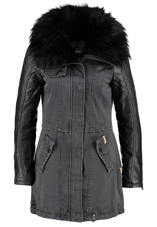 Khujo Damen Jacke Merle Fake Leather (AP+CH) BLK Gr.S günstig