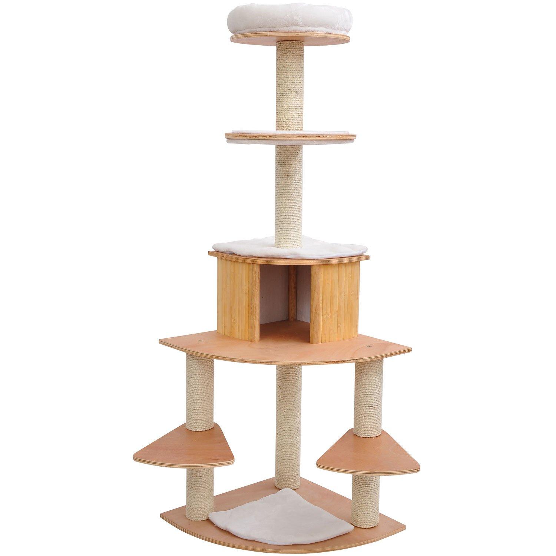 """Pawhut 66"""" Cat Tree Condo Pet Scratcher Furniture - Cream at Sears.com"""