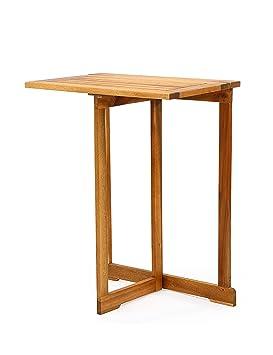 ZGW Mesa plegable Simple Nostálgico Mesa plegable de madera Mesa plegable retro Madera maciza