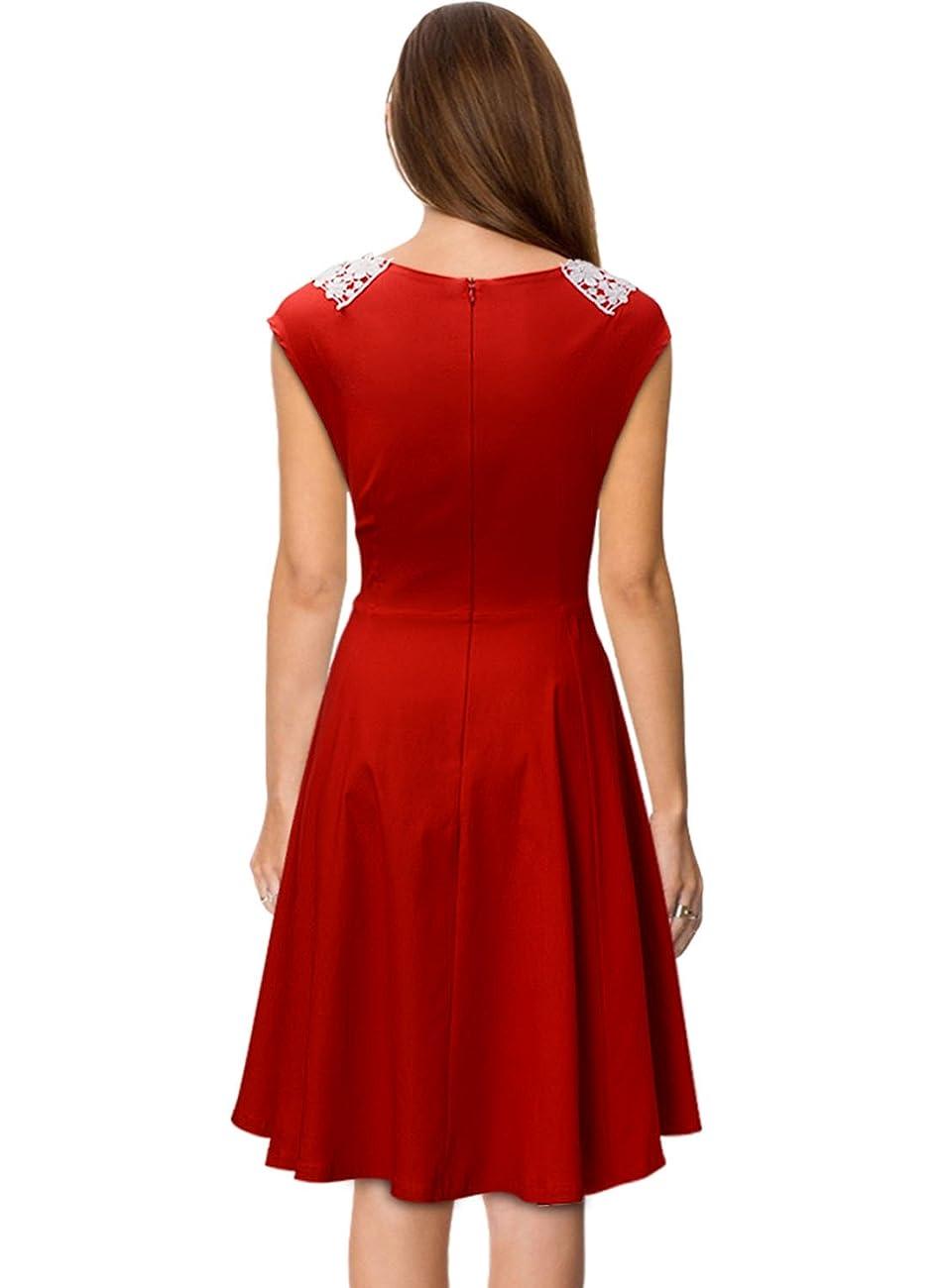 Miusol Women's Classy Vintage Audrey Hepburn Style 1940's Rockabilly Evening Dress 1