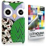CASEiLIKE ® - Owl-Grafik-Design - grün - Snap on Back Cover Gehäuse für Apple 4 G Touch / iPod Touch 4 Generation - mit Displayschutzfolie 1pcs.