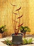 Tiered Copper Leaves Indoor Outdoor Fountain
