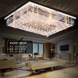 Chambre A Coucher Best Deals - JJ Plafonnier LED moderne rectangulaire LED lumière atmosphère Crystal couloir, chambre à coucher, salon plafond lampes minimaliste moderne Lampes chaudes Remote 60* 40cm, 220-240V