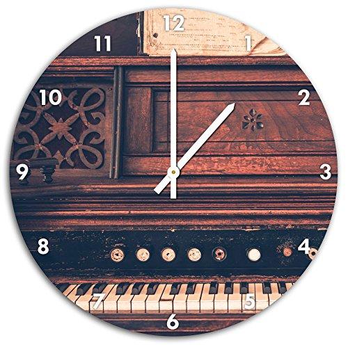 antikes-Klavier-Wanduhr-mit-spitzen-Zeigern-und-Ziffernblatt-Dekoartikel-Designuhr-Aluverbund-sehr-schn-fr-Wohnzimmer-Kinderzimmer-Arbeitszimmer