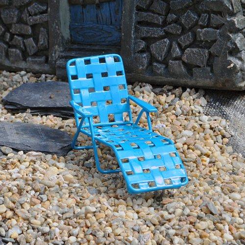 Miniature Fairy Garden Web Lounger, Blue