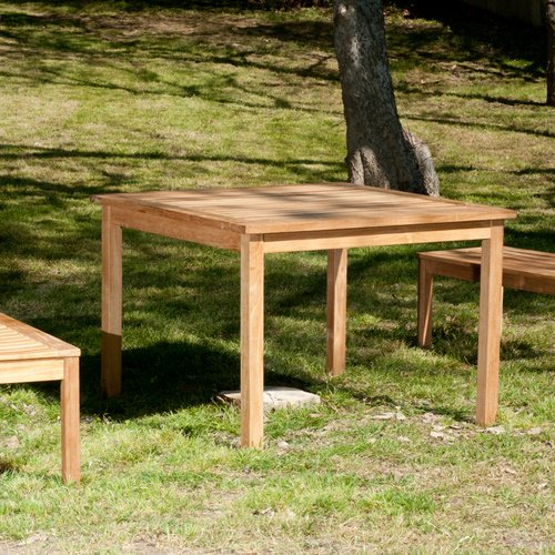 Square Teak Outdoor Dining Table Table