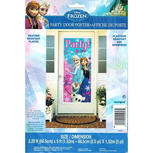 Disney Frozen Party Door Poster