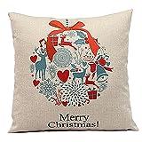 Weihnachten Geschenkidee Leinenkissenabdeckung Zierkissenbezug