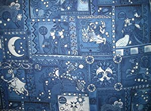 Zodiac fabric by alexander henry 100 cotton for Astrology fabric