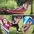 150x200cm 200KG Mobile Garten Camping Hammock Hängematte Tuchhängematte Bed Neu von LONGACE - Gartenmöbel von Du und Dein Garten