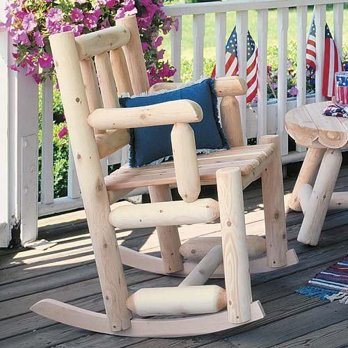 Cedar Log Dining Chair