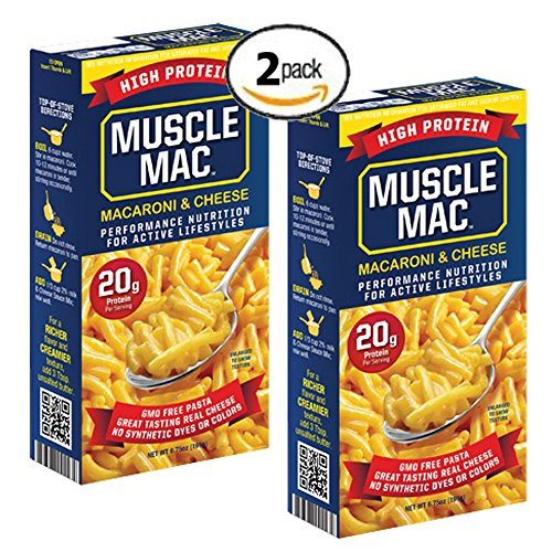 Muscle Mac High Protein Macaroni and Cheese 20g Protein per serving (2 Pack) (Box Mac And Cheese compare prices)