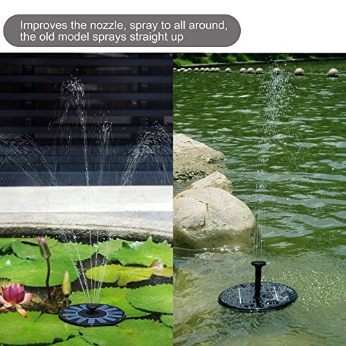 Solar Panel Water Pump Power Fountain Kit Garden Pond Yard Submersible Watering (Solar Panel Pond Heater compare prices)