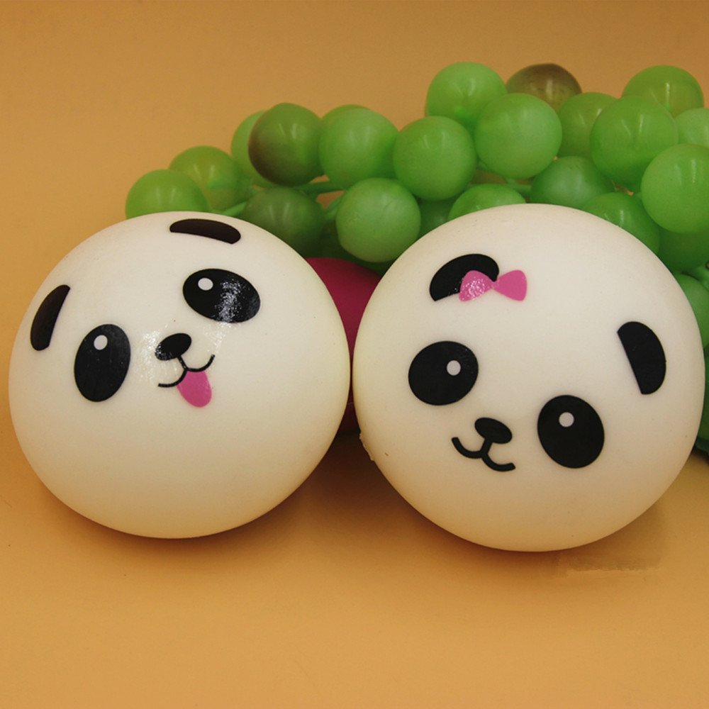 Zapour Panda Bun Bread Squishies Squishy Toys Charms Cell Gift Phone Chain Phone Straps ...