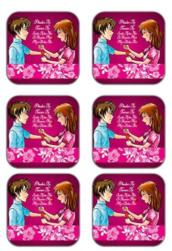 MeSleep Rakhi Wooden Coaster-Set Of 6 - B013LESXHS