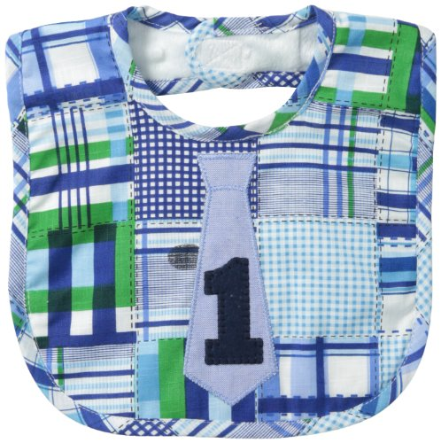 Mud Pie Baby-Boys Newborn I Am One Tie Bib, Multi, One Size