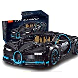 nobrand Technic 20086 42083 The Bugatti Chiron Racing Car Sets Model Building Block Brick Toys For Children Birthday Gift (Black) (Color: Black)