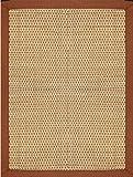 TAPPETO STUOIA IN FIBRA NATURALE, INTRECCIATO A MANO, CON BORDO COTONE MARRONE TATAMI.BRICK 160X240