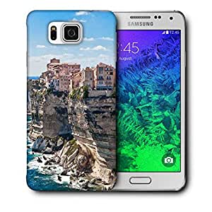 Snoogg Houses On Rocks Printed Protective Phone Back Case Cover For Samsung Galaxy SAMSUNG GALAXY ALPHA