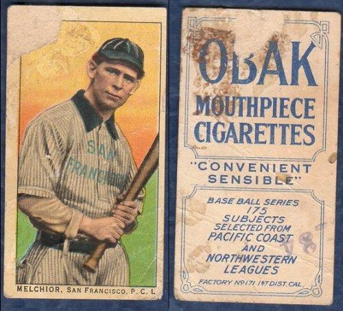 1910 obak (T212) 175 subjects (Baseball) Card# 106 melchior of the san francisco Fair Condition