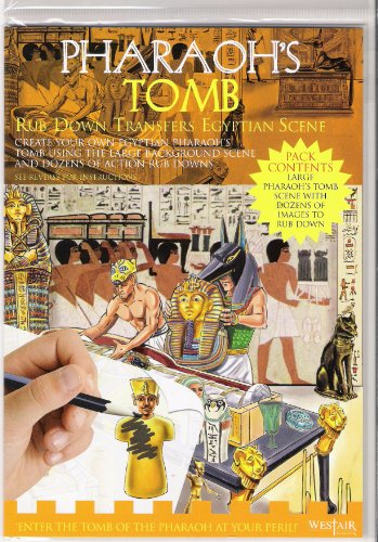 Pharaoh's Tomb - Rub Down Transfers Egyptian Scene