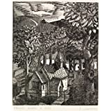 Church under a Hill, by Eric Ravilious (Print On Demand)