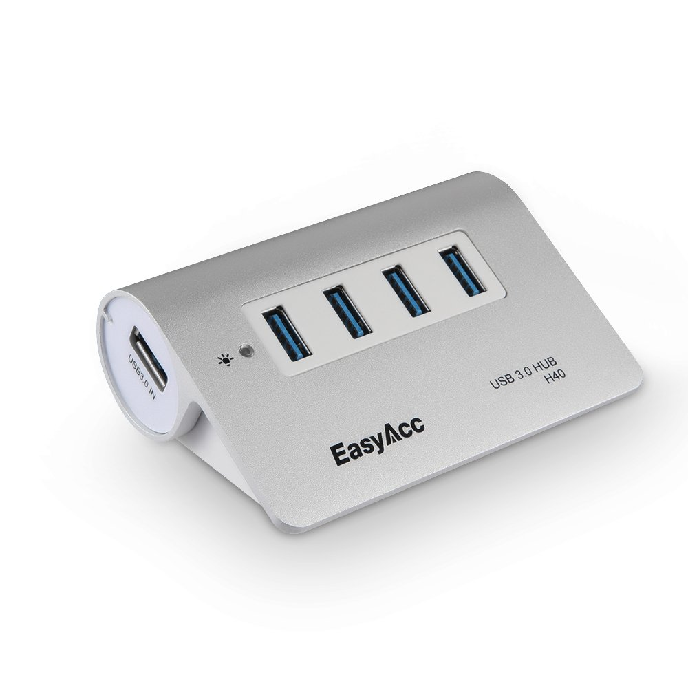 EasyAcc Super Speed USB 3.0 4 Port Hub,