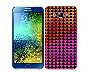Galaxy Printed 2956 Triangles Obstuction Hard Cover for Samsung A3