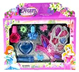 Dream Girl Butterfly Case Pretend Play Toy Make Up Case Kit, Washable, Safety Tested, Formulated for Children